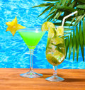 Glasses Of Cocktails Royalty Free Stock Photography - 25827837