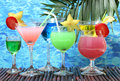 Glasses Of Cocktails Royalty Free Stock Photography - 25827857