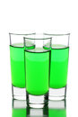 Three Glasses Of Absinthe Royalty Free Stock Image - 25828796