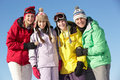 Teenage Family On Ski Holiday In Mountains Royalty Free Stock Photography - 25836417