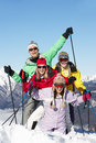Teenage Family On Ski Holiday In Mountains Royalty Free Stock Photo - 25836565