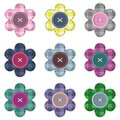 Set With Scrapbook Flowers Stock Image - 25837801