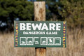 Beware Of Dangerous Game Stock Photo - 25839090