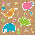 Сute Text Frames In The Shape Of Animals Stock Photography - 25846962