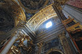Gorgeous Ceiling Of The Baroque Chirch In Rome Royalty Free Stock Photos - 25847078