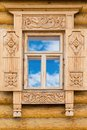 Wooden Decorated Window Stock Photos - 25847493