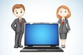 3d Business People With Laptop Royalty Free Stock Photography - 25851737