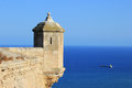 Alicante Castle Turret Landscape Stock Images - 25852324
