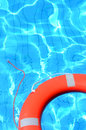 Lifebelt In Swimming Pool Royalty Free Stock Photography - 25859307
