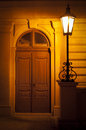 Street Lamp At Night With Door Stock Images - 25862214