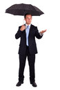Business Man With Umbrella Royalty Free Stock Photo - 25870945