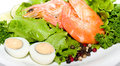 Fried Prawn Food With Salad And Eggs Royalty Free Stock Image - 25871416