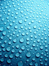 Waterdrops On Blue Stock Images - 2595464