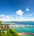 Mediterranean Landscape With Cloudy Blue Sky Stock Image - 25900381