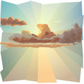 Background With Cloud And Sun S Rays. Royalty Free Stock Photo - 25916525