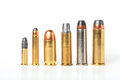 Bullet- Ammo Size Compare. Royalty Free Stock Image - 25923876