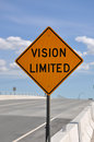 Vision Limited Road Sign Stock Image - 25923981