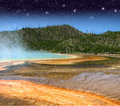 Landscape And Geysers Of Yellowstone NP Stock Photo - 25937200