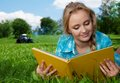 Country Girl Reading A Book Stock Image - 25951991