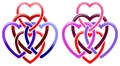 Five Hearts Royalty Free Stock Images - 25953129