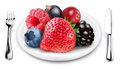 Berries Mix On A Plate. Stock Photo - 25959560