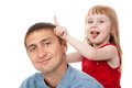 Little Girl Plays With Her Dad Stock Photography - 25959752