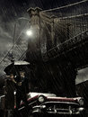 Brooklyn Under Rain Royalty Free Stock Image - 25961146