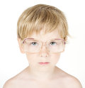 Child In Eyeglasses. Close Up Portrait Stock Photo - 25972550