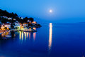 Peaceful Croatian Village And Adriatic Bay Stock Photo - 25973190