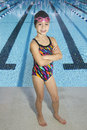 Confident Young Swimmer Ready To Compete Royalty Free Stock Photo - 25977935