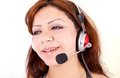 Beautiful Customer Support Girl Royalty Free Stock Photos - 25978278