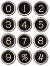 Vintage Typewriter Number Keys Stock Images - 25980604