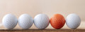 One Different Golf Ball Royalty Free Stock Image - 25981376