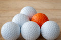 One Different Golf Ball Royalty Free Stock Image - 25981396