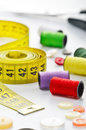 Dressmakers Sewing Materials Royalty Free Stock Photo - 25990515
