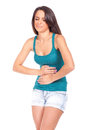 Woman With Stomach Ache Stock Photography - 25995832