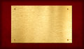 Gold Plaque On Red Background Stock Image - 25997931
