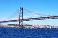 The Traditional Bridge Over The River Tagus (tejo) Stock Image - 26012091