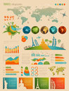 Travel Infographic Set With Charts Stock Photos - 26015143
