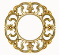 Oval Gold Picture Frame Royalty Free Stock Image - 26022806