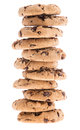 Stacked Cookies Isolated On White Stock Photography - 26026782