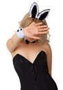 Girl In Erotic Costume Wishes To Remain Incognito Stock Image - 26028211