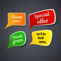 Announcement Paper Speech Labels. Royalty Free Stock Photo - 26040715