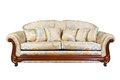 Sofa With Pillows Isolated Royalty Free Stock Photos - 26049828