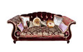 Sofa With Pillows Isolated Royalty Free Stock Images - 26049839