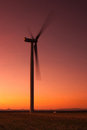 Windfarm At Sunset Royalty Free Stock Images - 26076929