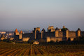 Landscape Of Rampart Towers Rising From Vineyards Stock Photo - 26082220