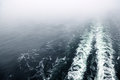 Cruise Ship Wake Or Trail On Ocean Surface Stock Images - 26086934