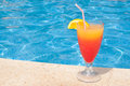 Cocktail By The Pool Royalty Free Stock Photo - 26088185