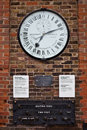 Clock At The Gates Of Royal Observatory In Greenwi Royalty Free Stock Photo - 26094035